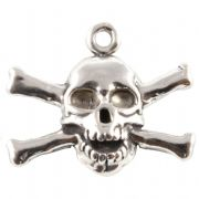 Skull and Crossbones Sterling Silver Charms